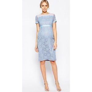 ASOS Maternity Blue Lace Dress